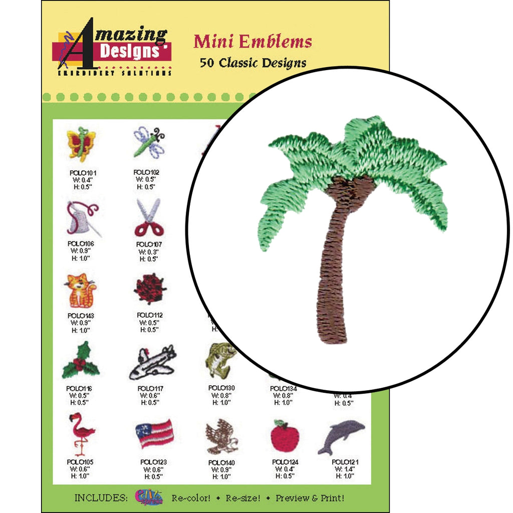 Mini Emblems Embroidery Designs CD
