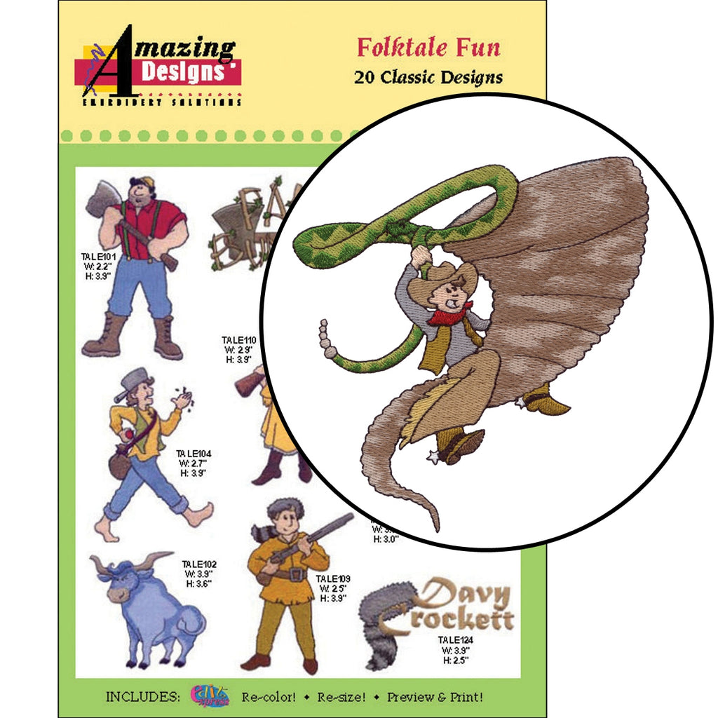 Folktale Fun Embroidery Designs CD