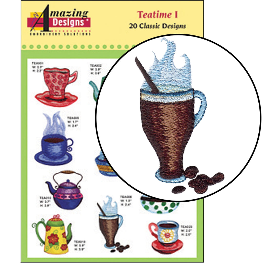 Teatime I Embroidery Designs CD