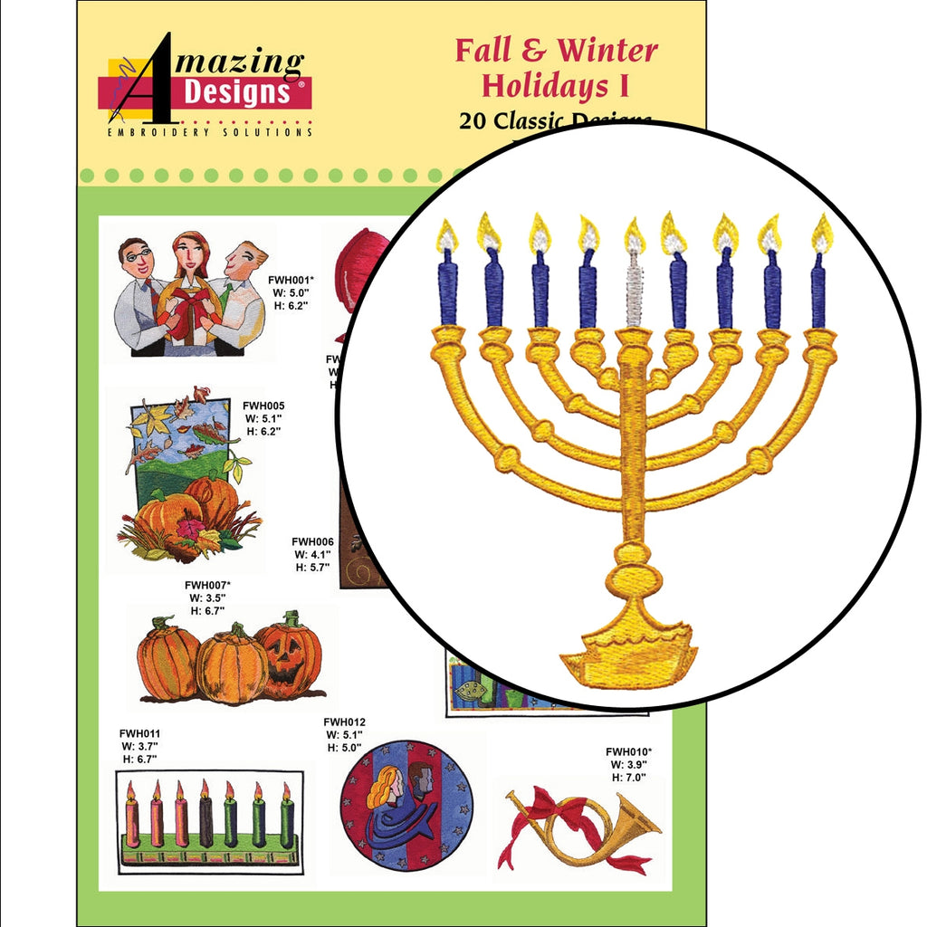 Fall and Winter Holidays I Embroidery Designs CD