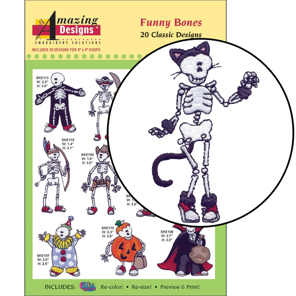 Funny Bones Embroidery Designs CD