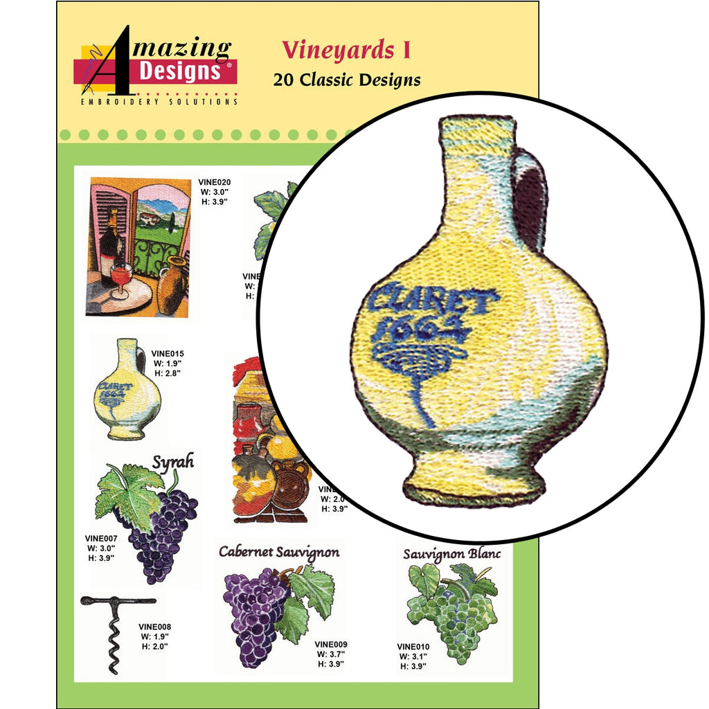 Vineyards I Embroidery Designs CD