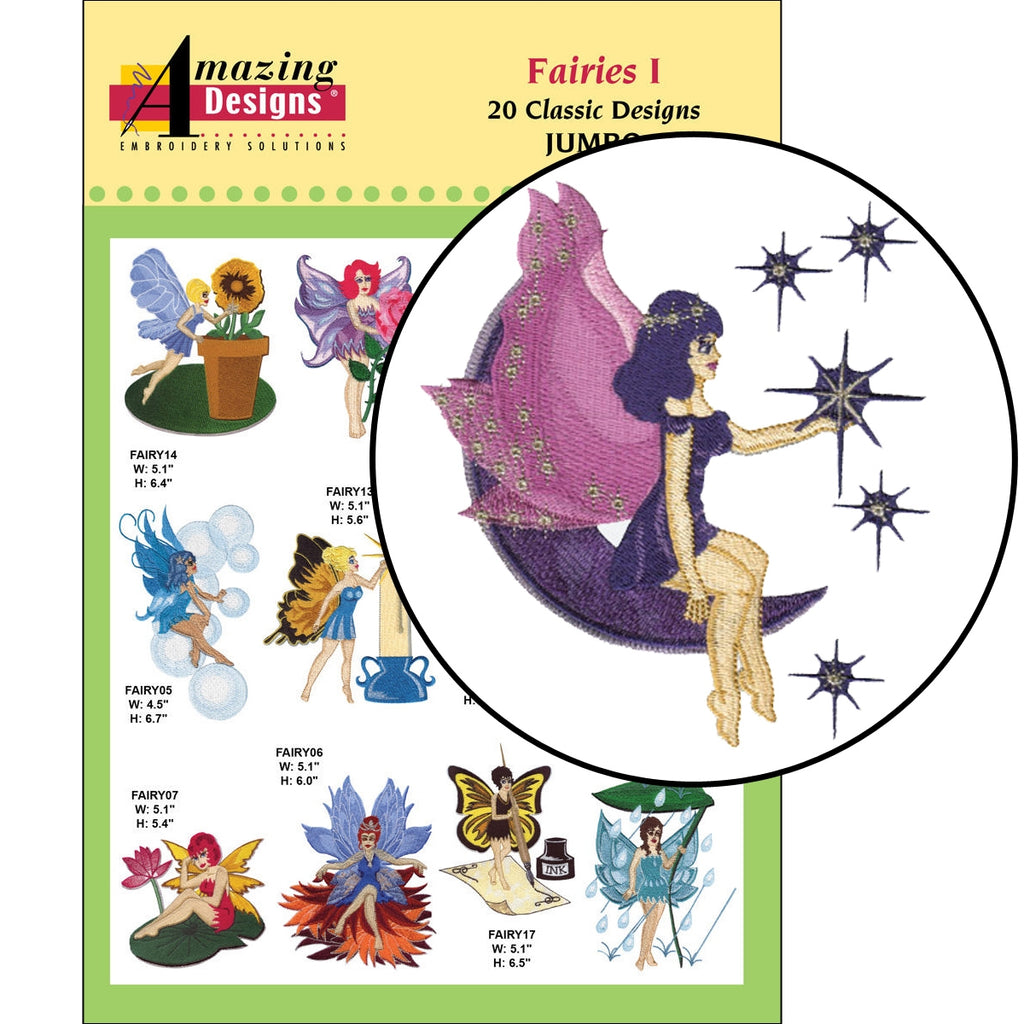Fairies I Embroidery Designs CD