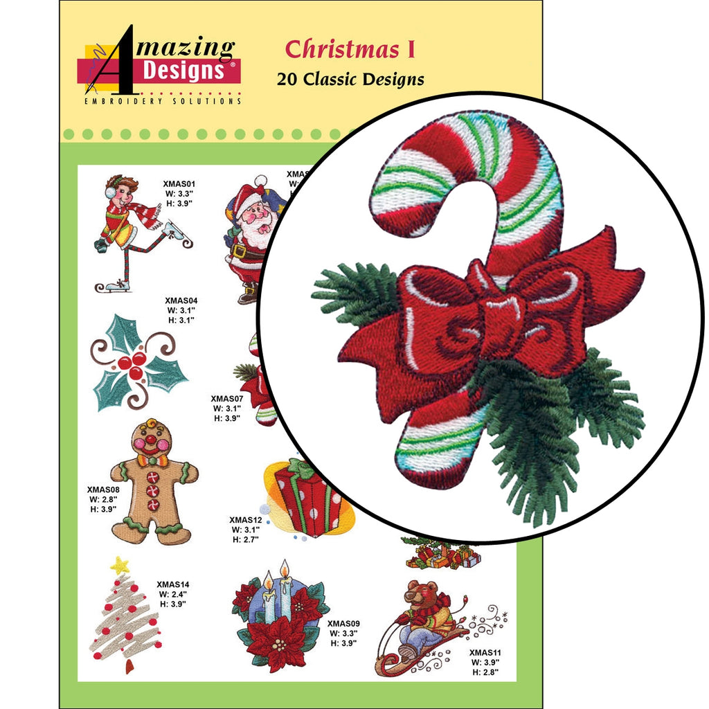 Christmas I Embroidery Designs CD