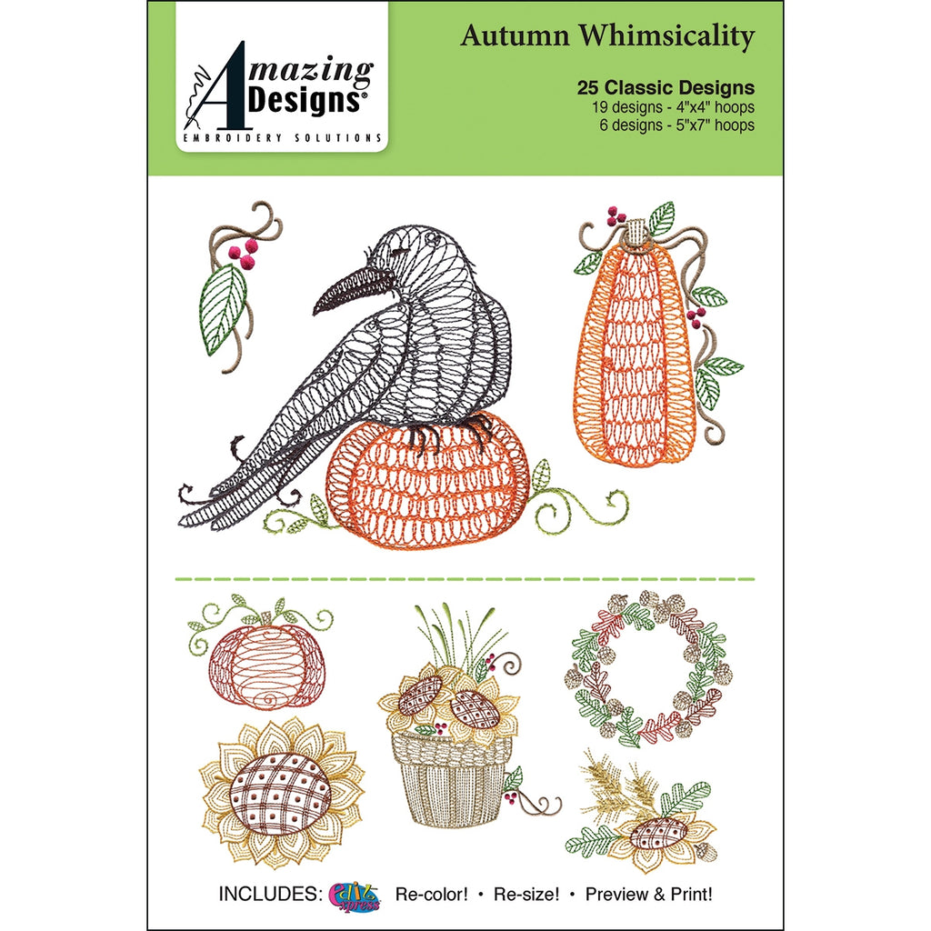 Autumn Whimsicality Embroidery Designs