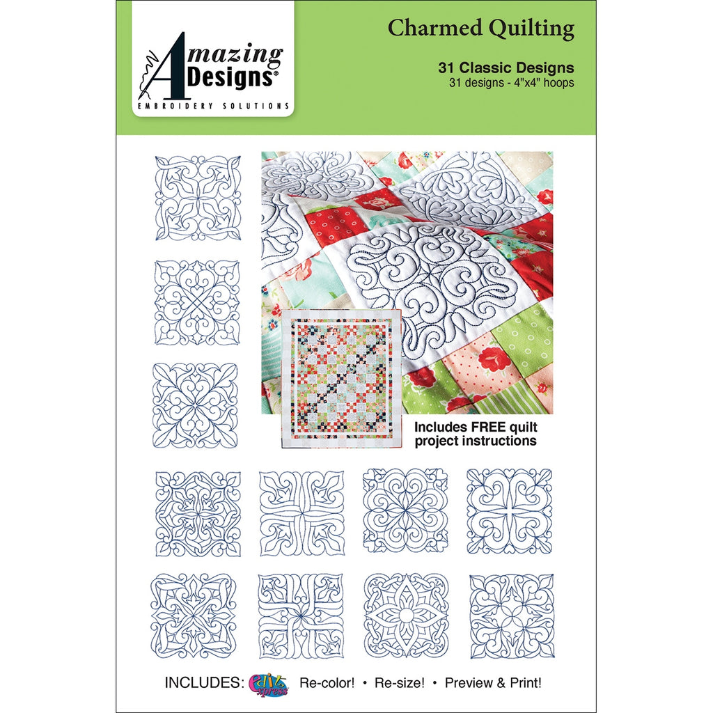 Charmed Quilting Embroidery Designs