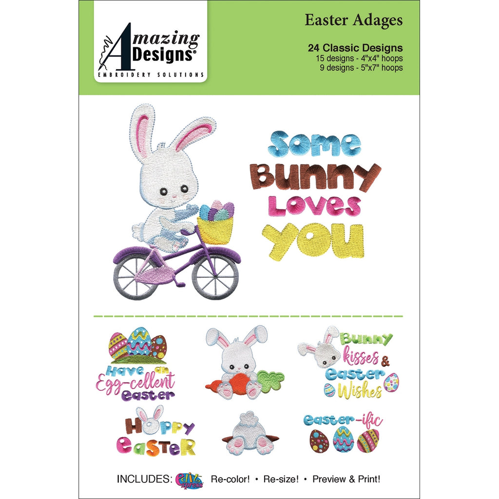 Amazing Designs Easter Adages Embroidery Designs CD
