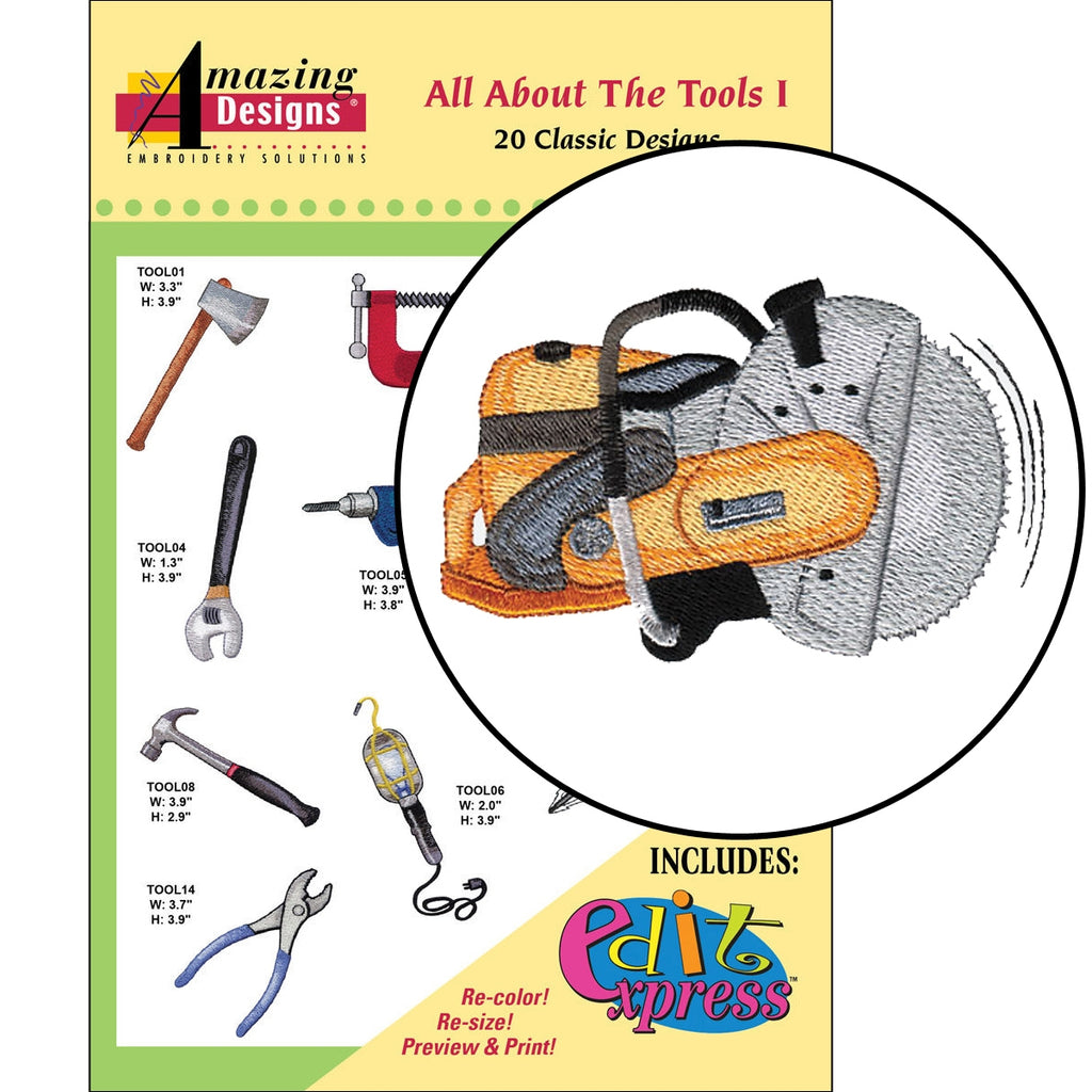 All About The Tools I Embroidery Designs CD