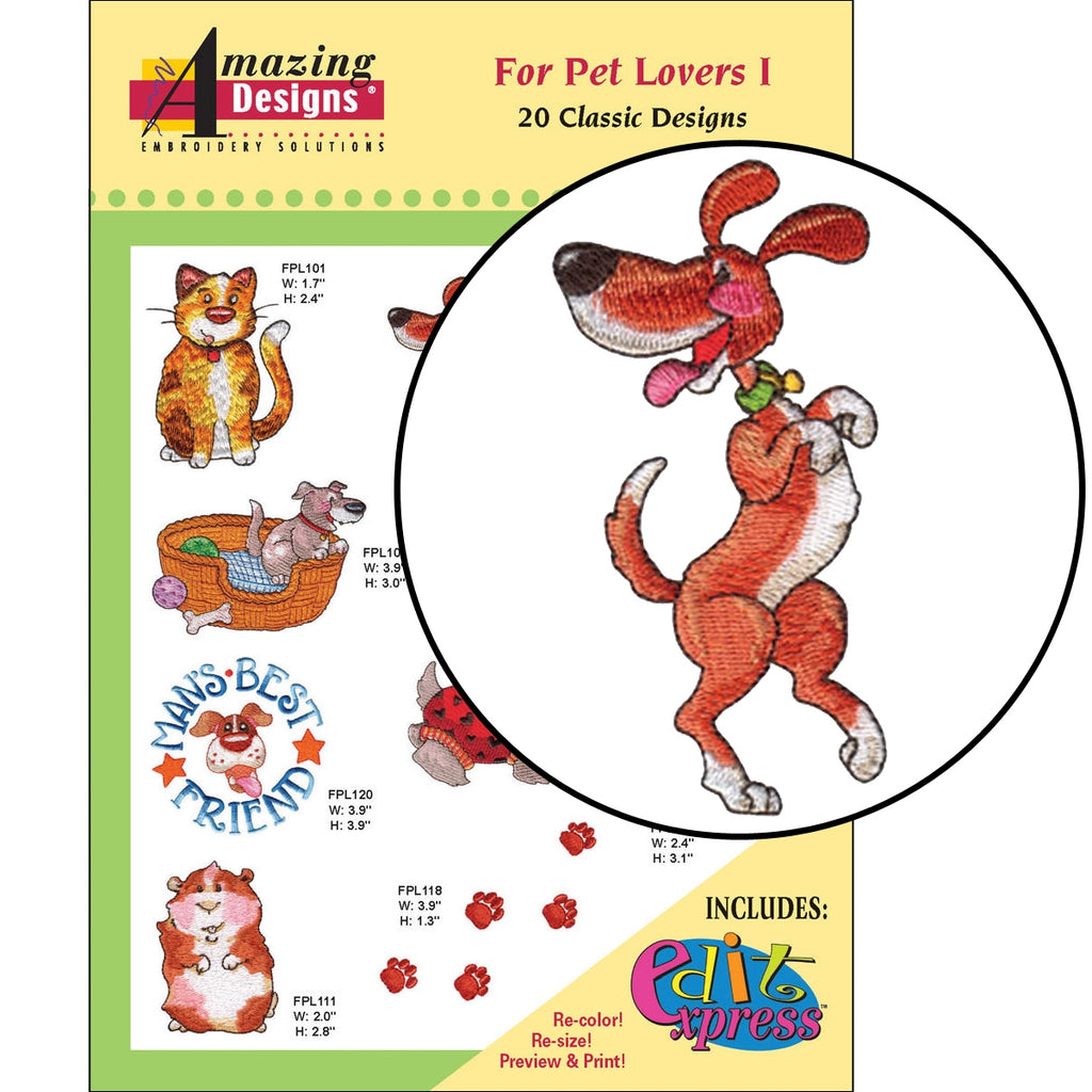For Pet Lovers Only I Embroidery Designs CD