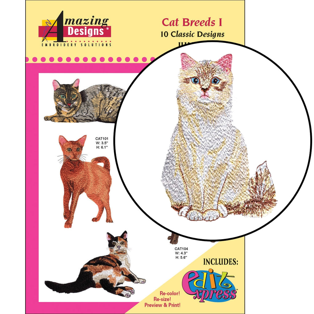 Cat Breeds I Embroidery Designs CD