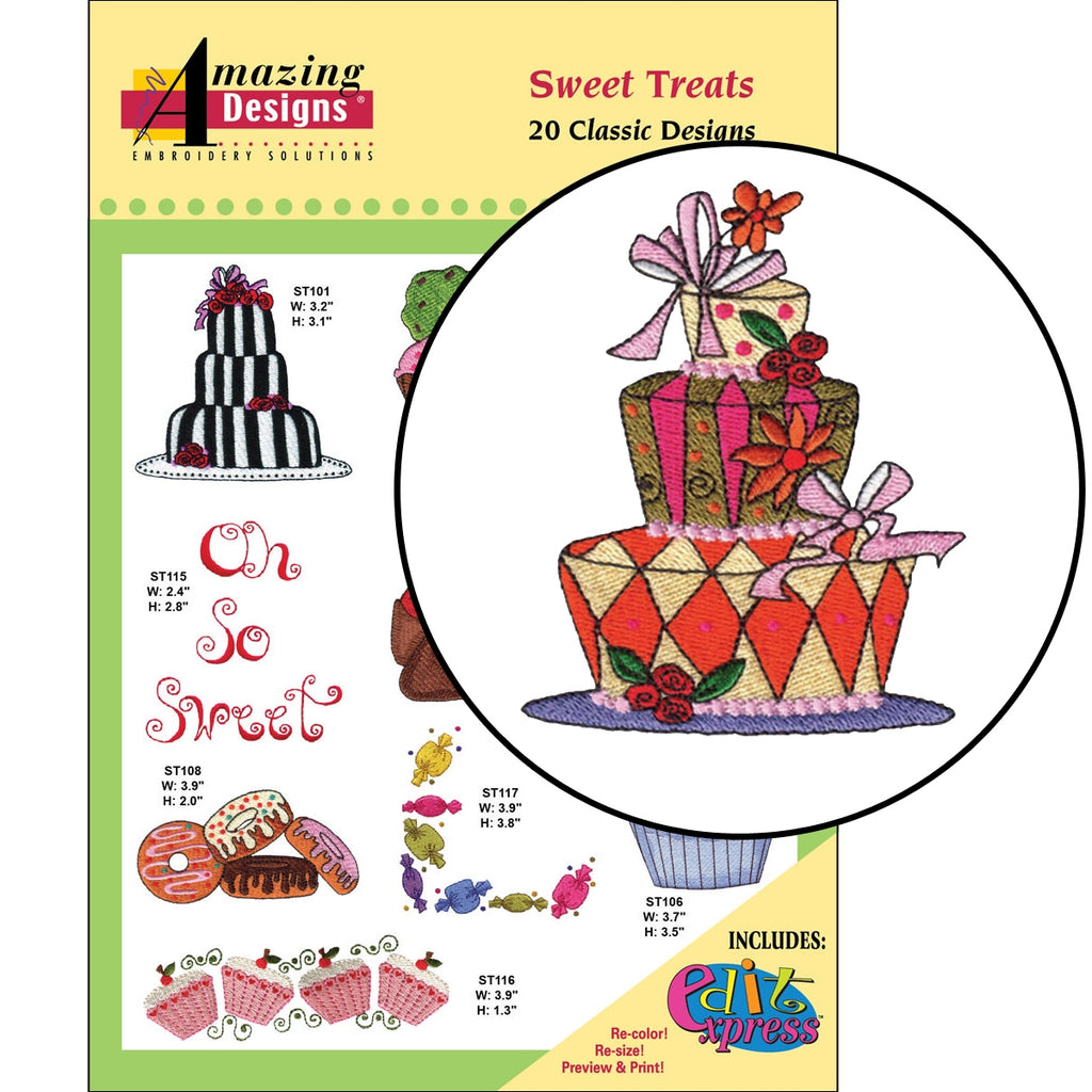 Sweet Treats Embroidery Designs CD