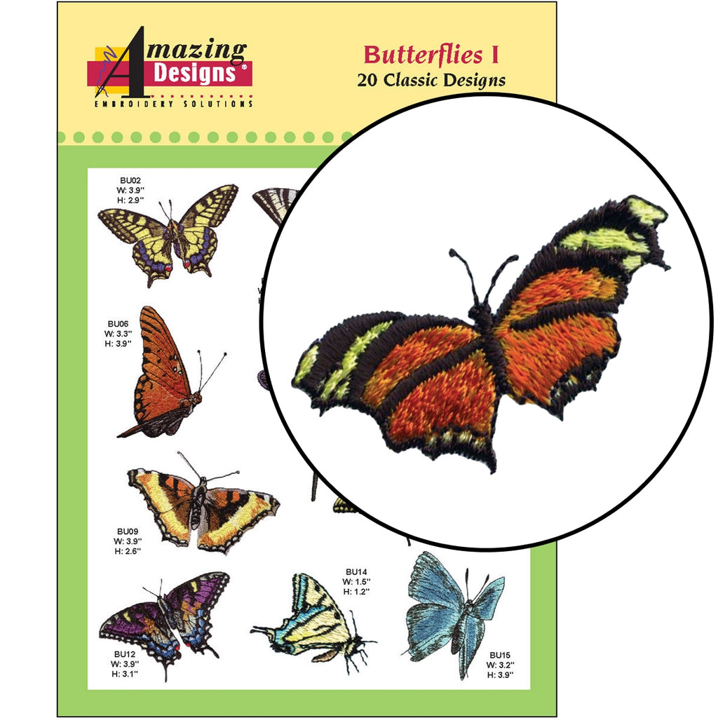 Butterflies I Embroidery Designs CD