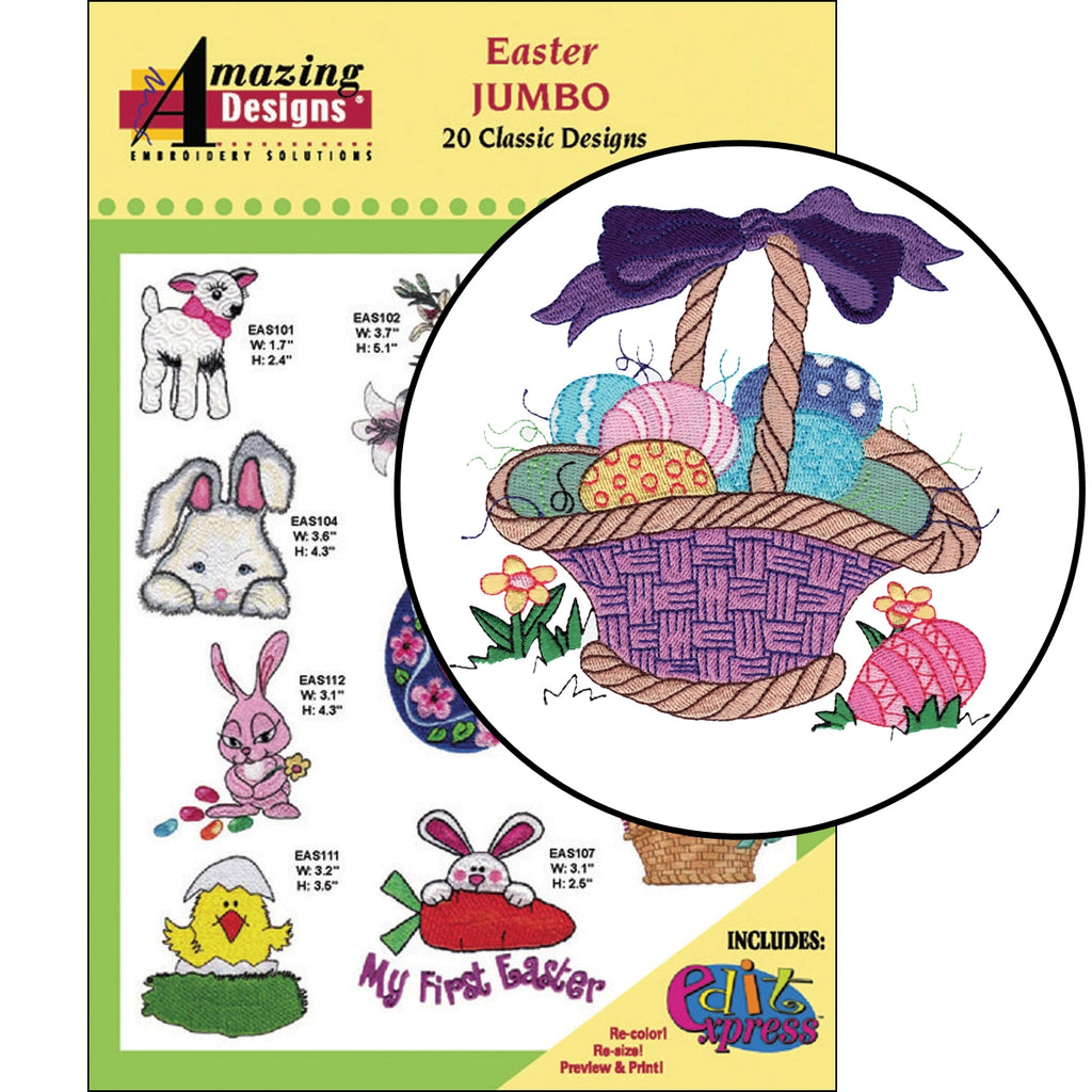 Easter Embroidery Designs CD