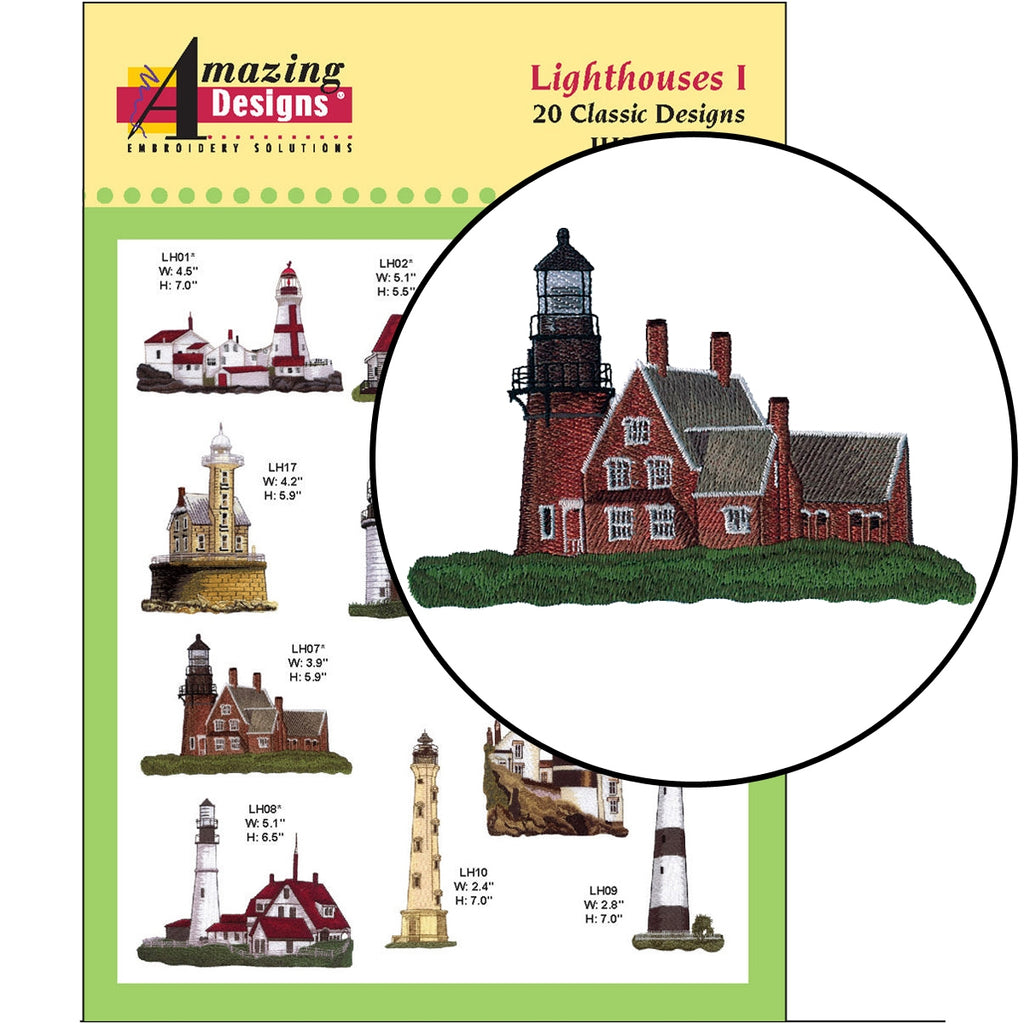 Lighthouses I Embroidery Designs CD