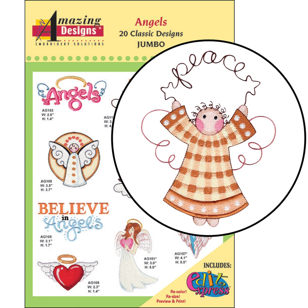 Angels Embroidery Designs CD