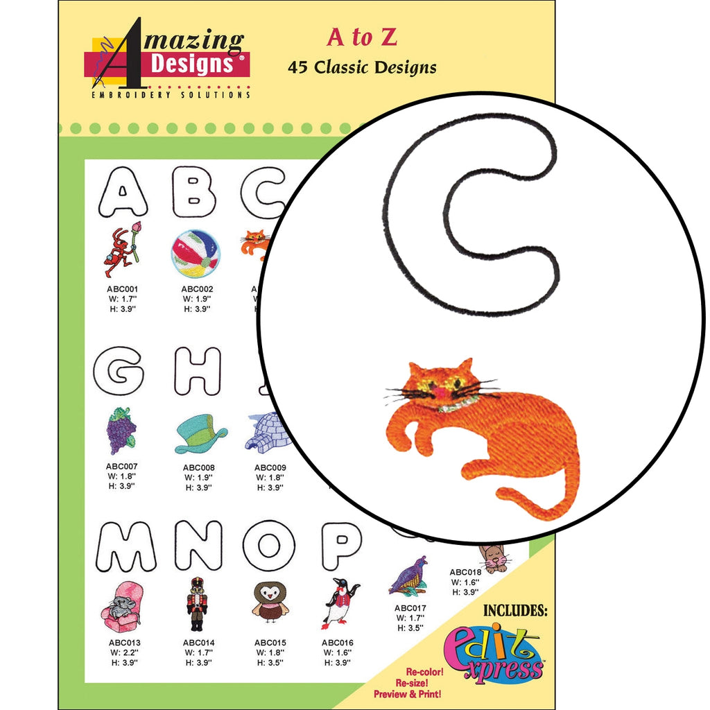 A to Z Embroidery Designs CD