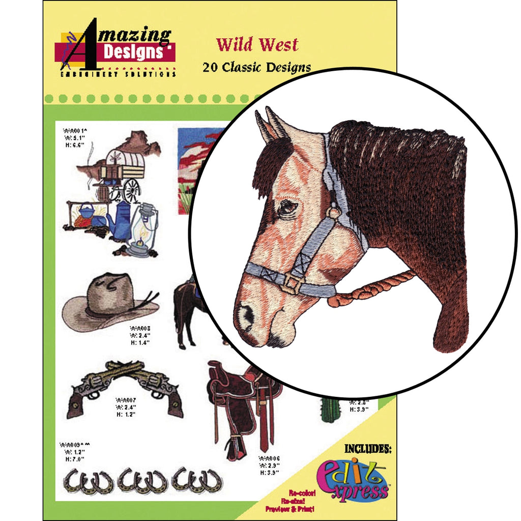 Wild West Embroidery Designs CD