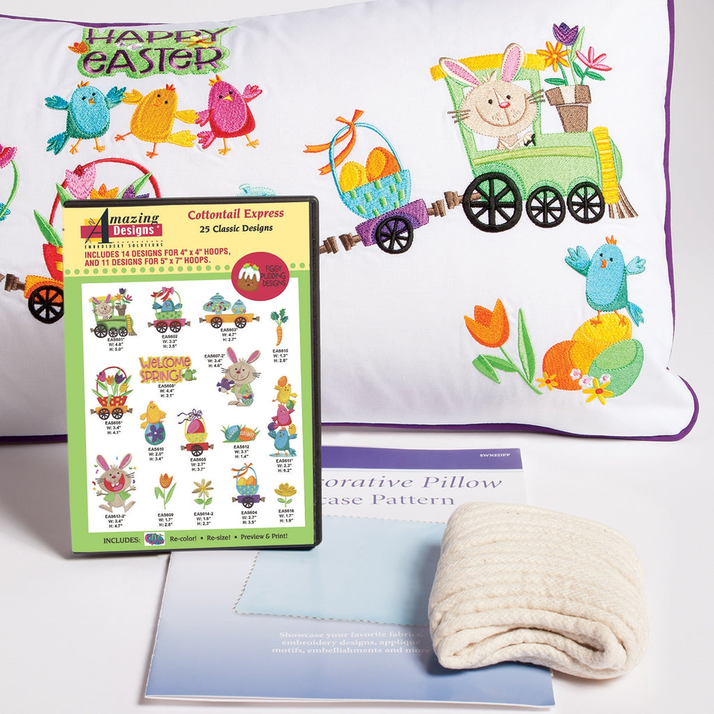 Cottontail Express Embroidered Pillow Starter Kit
