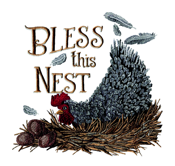 Amazing Designs Bless this Nest Embroidery Designs CD