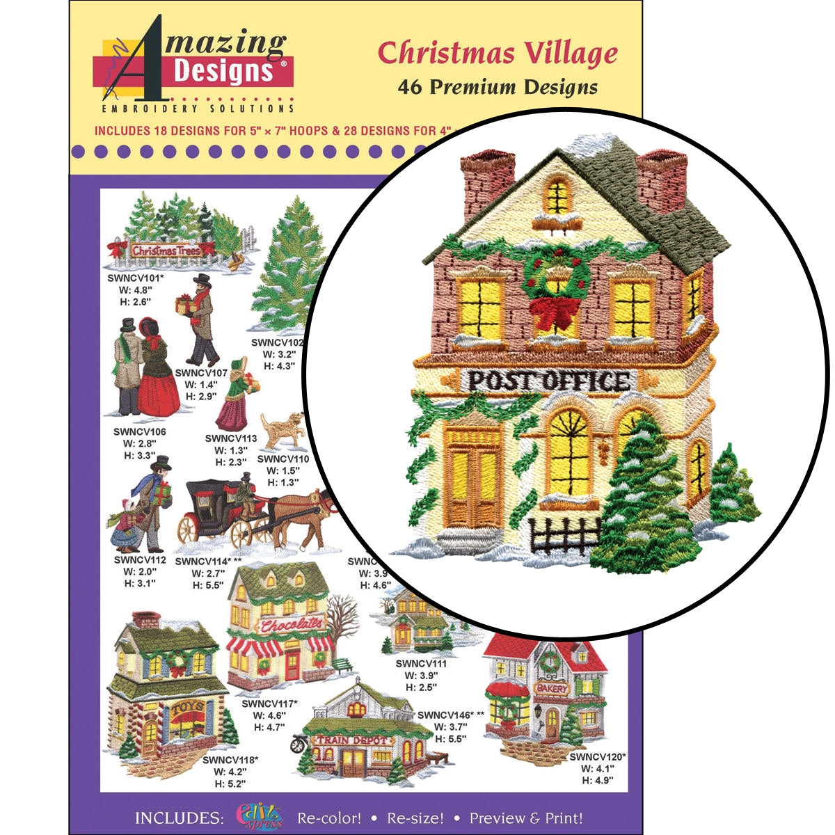 Christmas Village Embroidery Designs Cd