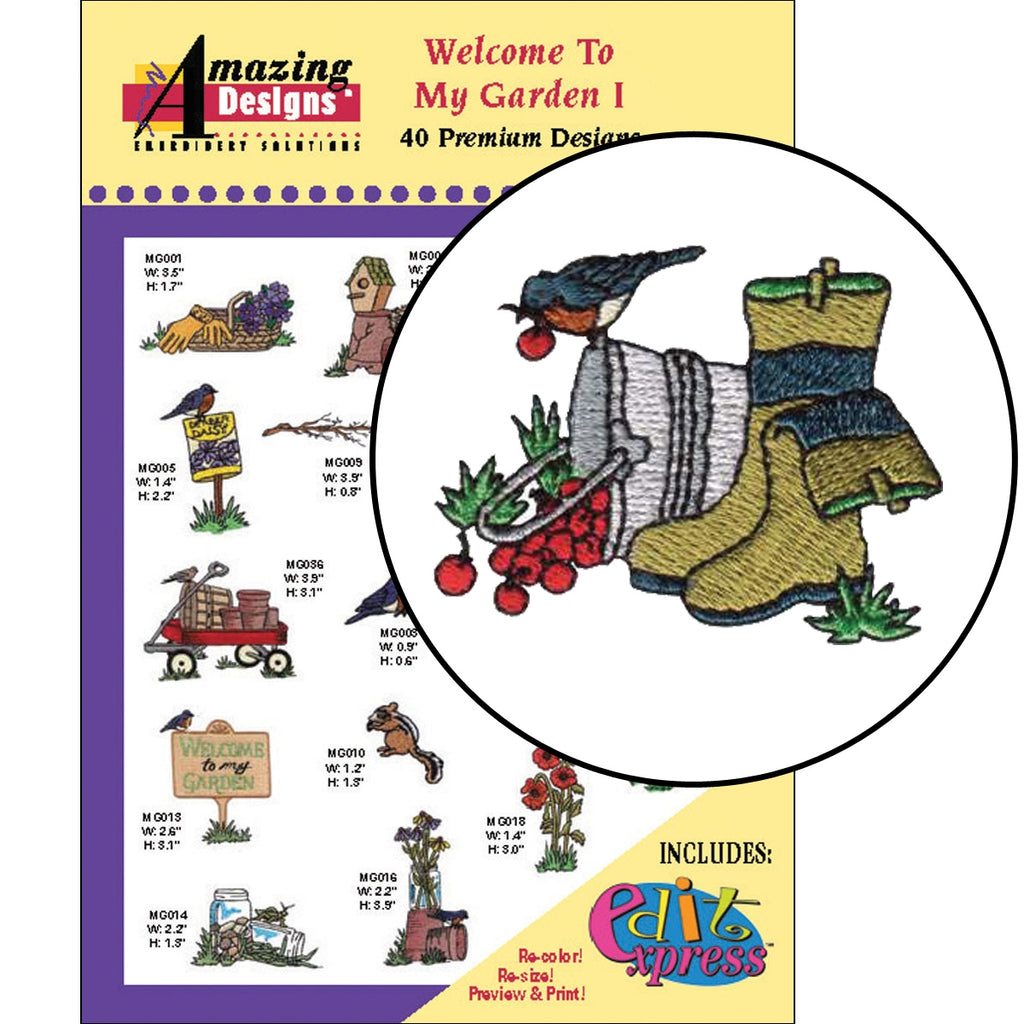 Welcome To My Garden I Embroidery Designs CD
