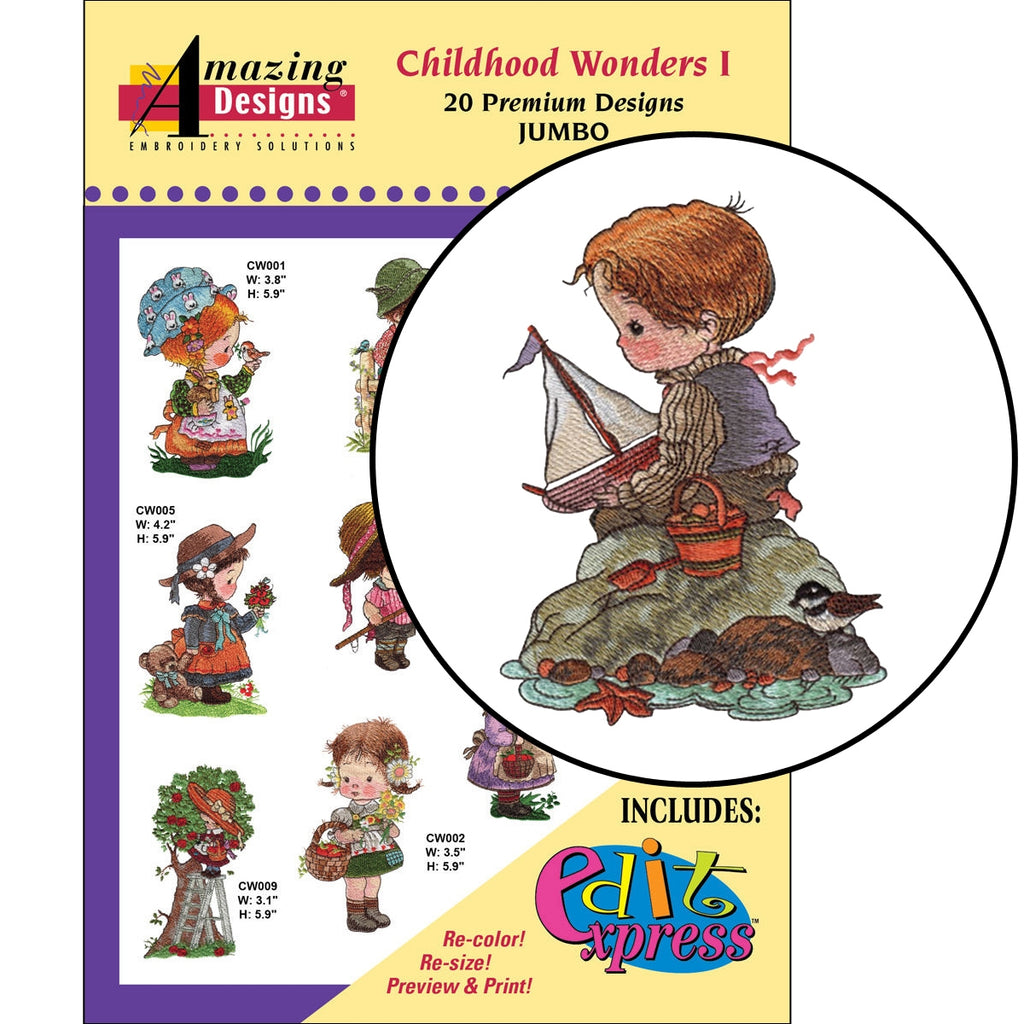 Childhood Wonders I Embroidery CD