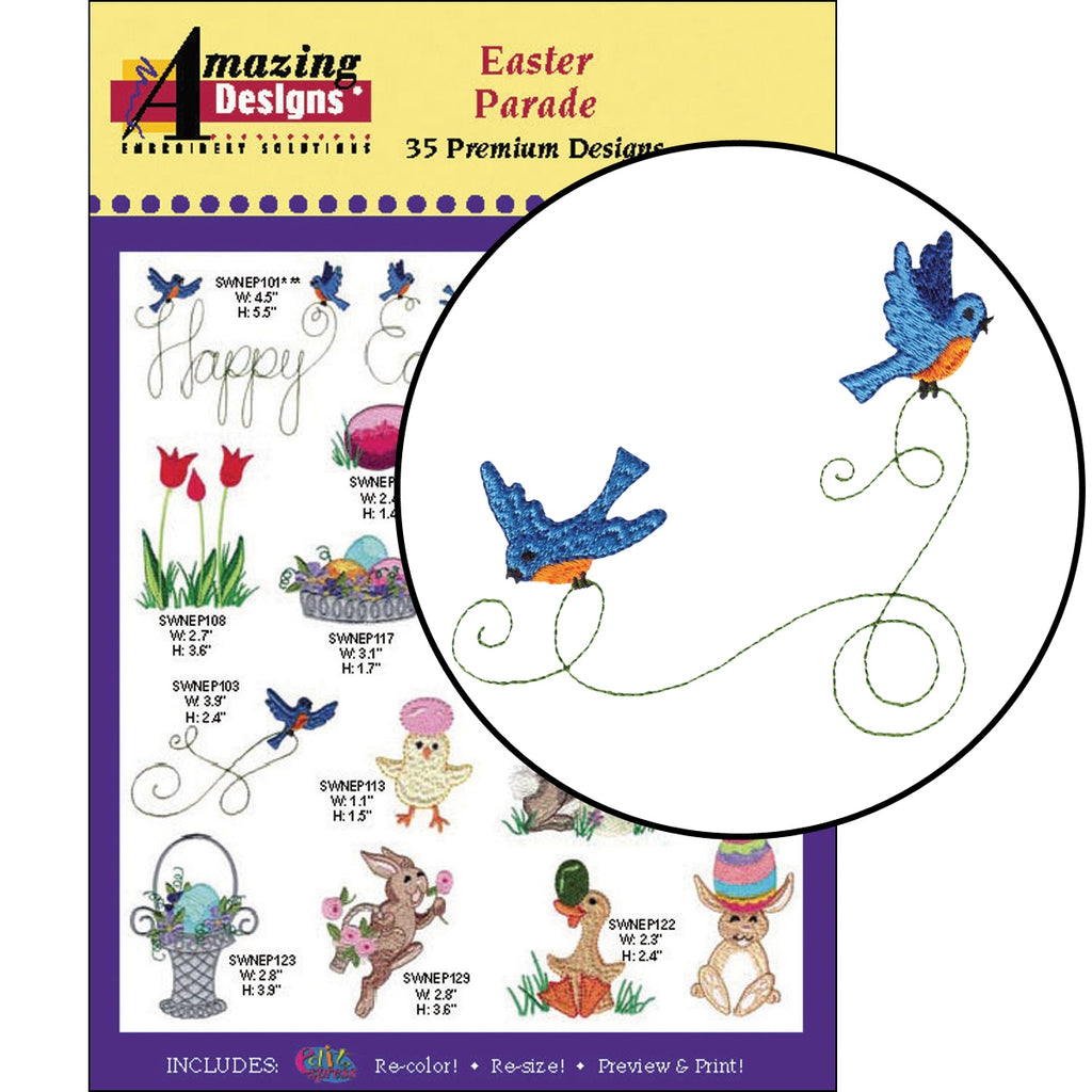 Easter Parade Embroidery Designs CD