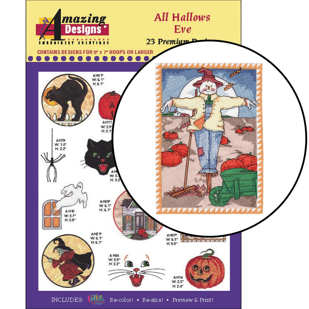 All Hallows Eve Embroidery Designs CD