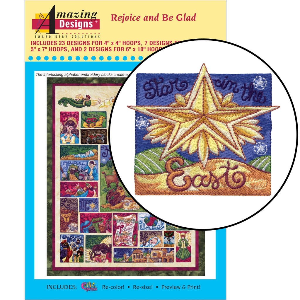 Rejoice and Be Glad Embroidery Designs CD