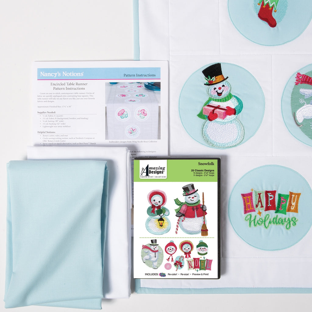 Snowfolk Embroidery Starter Kit