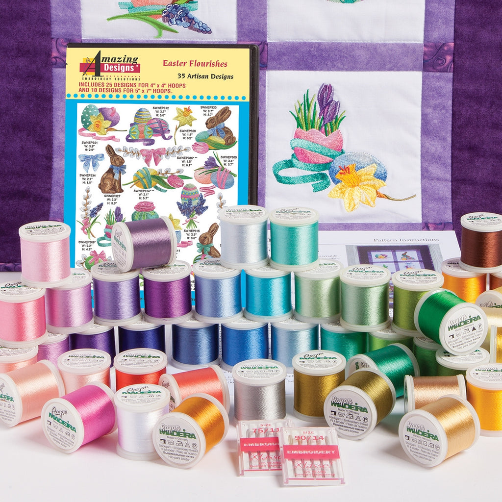 Easter Flourishes Embroidery Starter Kit