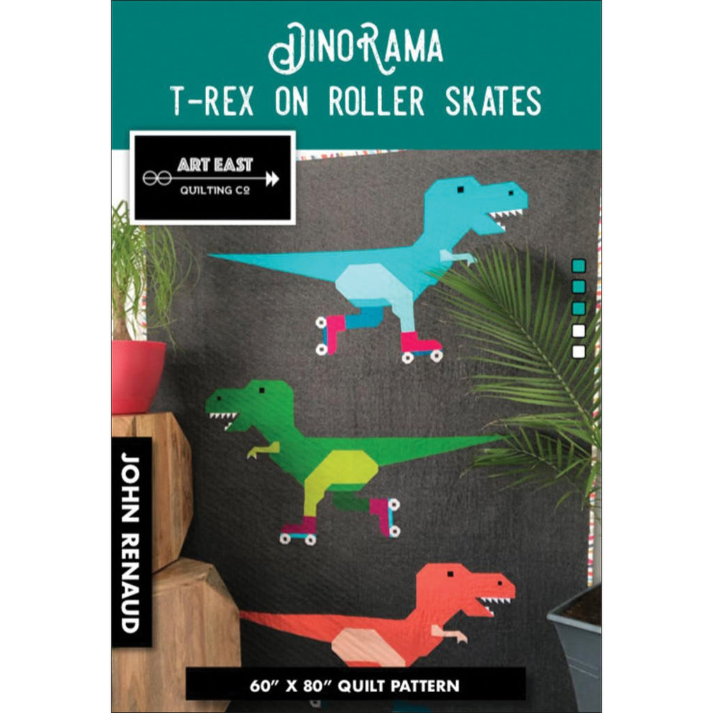 DinoRama T-Rex on Roller Skates Quilt Pattern