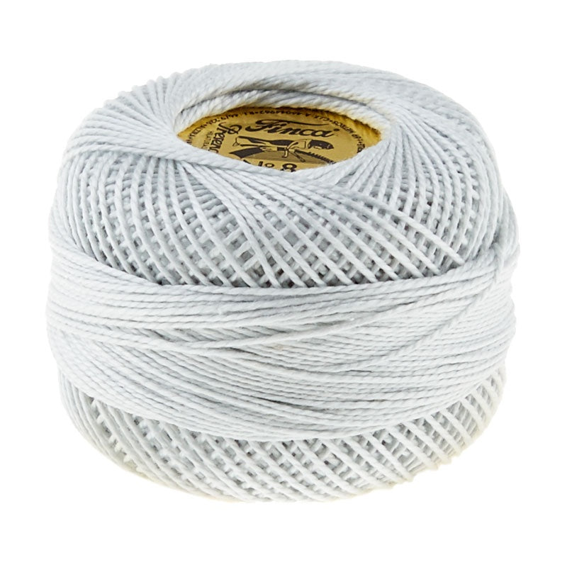 Presencia Perle Cotton Thread Size 8 Very Light Pewter
