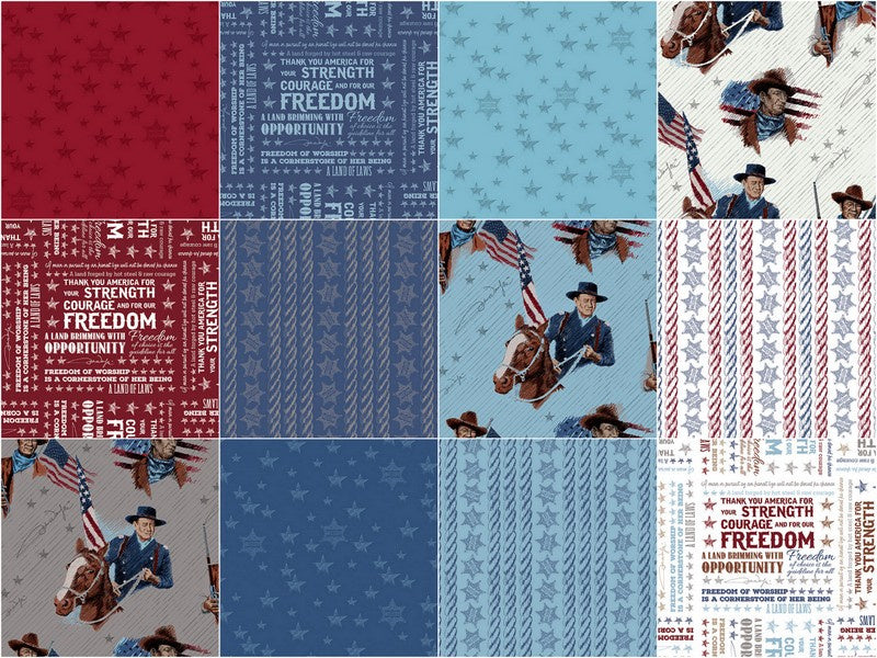 John Wayne Americana Fat Quarter Bundle