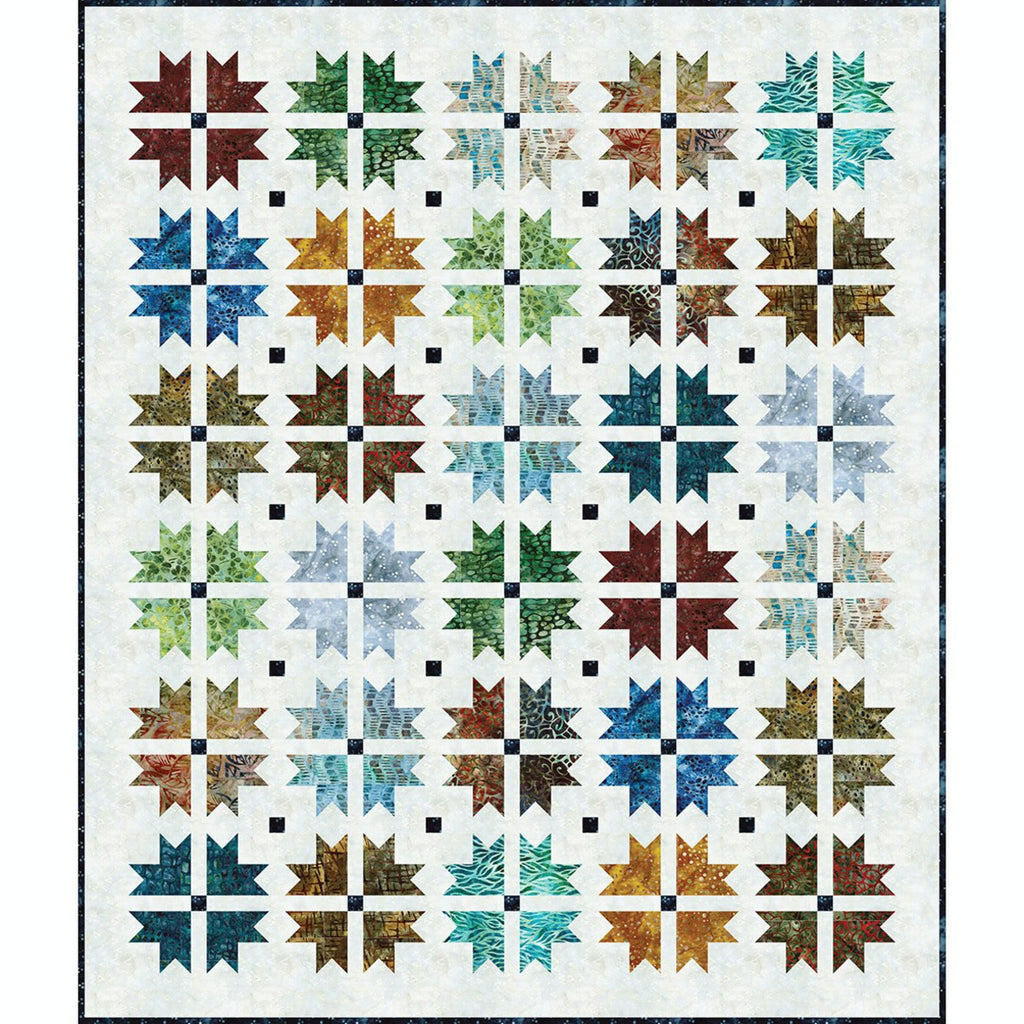 Robert Kaufman, By the Brook Batik Quilt Top Kit