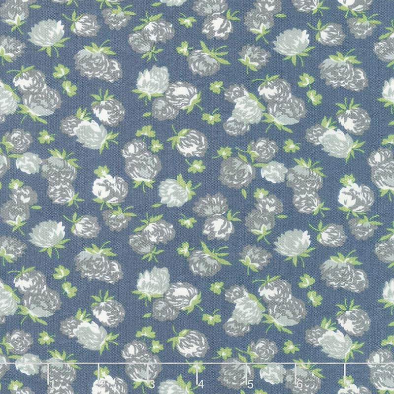 At Home with Bonnie and Camille - Camille's House Blossoms Indigo C Yardage