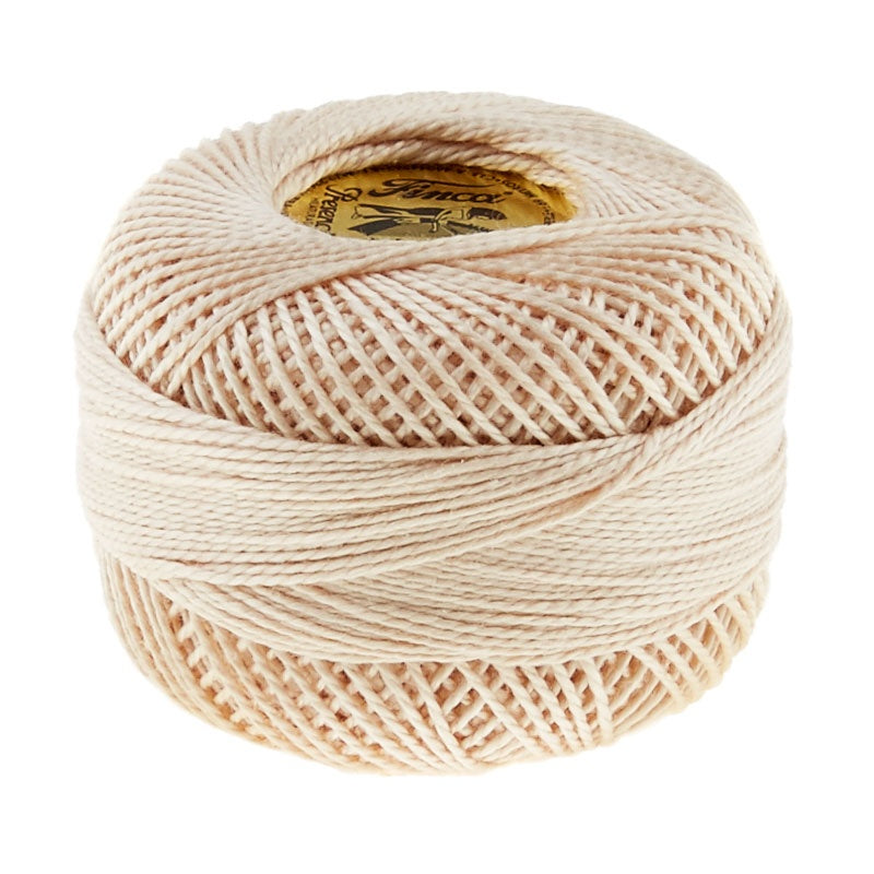 Presencia Perle Cotton Thread Size 8 Light Desert Sand