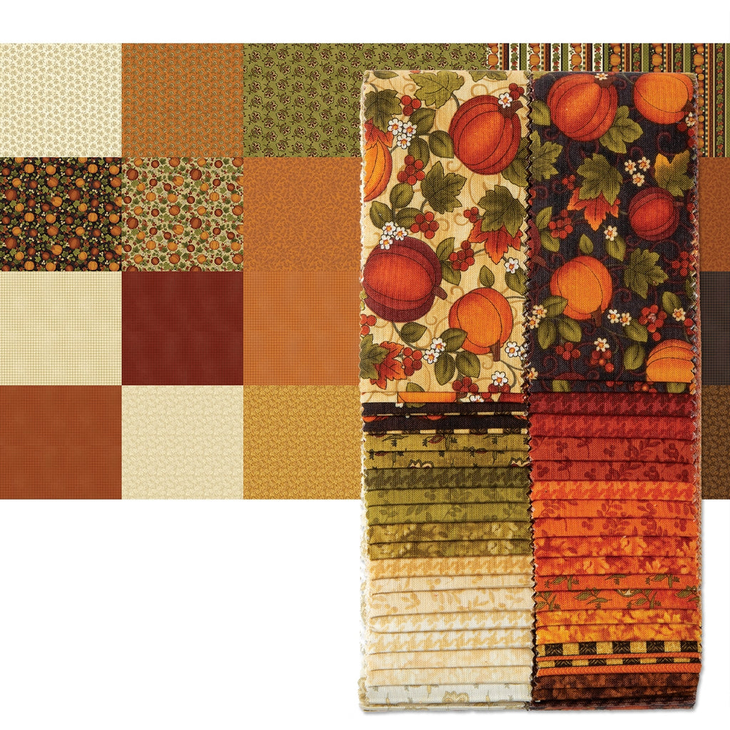 "Harvest Berry 2-1/2"" Fabric Strips"