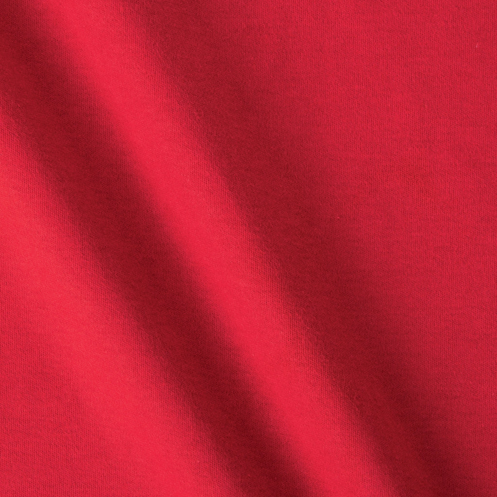 Red Bare Knits Cotton Poly Interlock Fabric