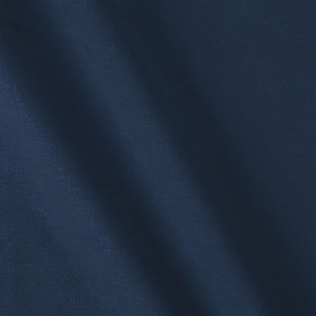 Navy Bare Knits Cotton Poly Rib Knit Fabric
