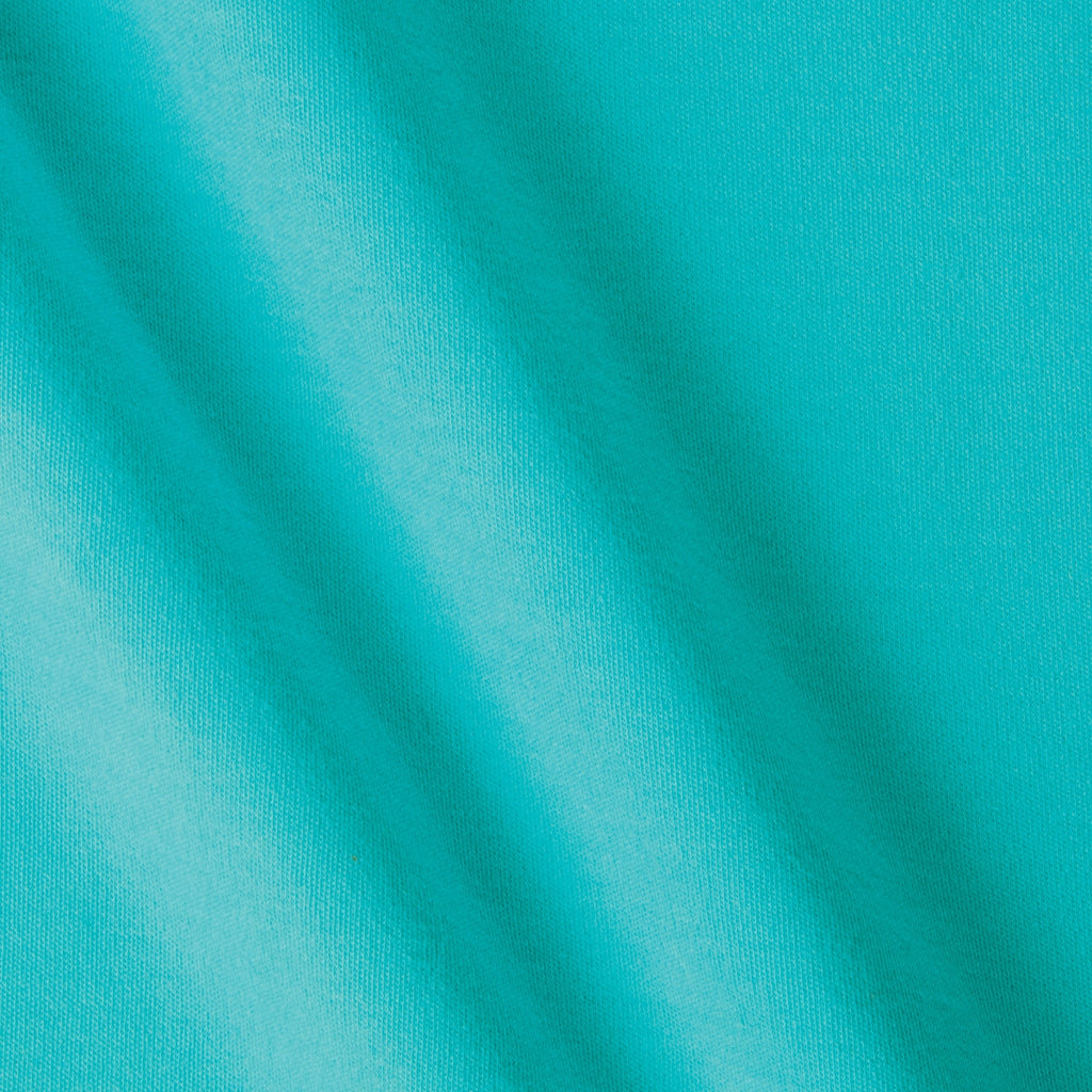 Peacock Bare Knits Cotton Poly Rib Knit Fabric