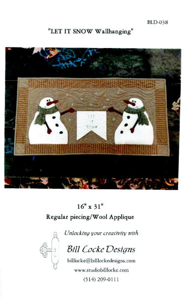 Let it Snow Wall Hanging Pattern