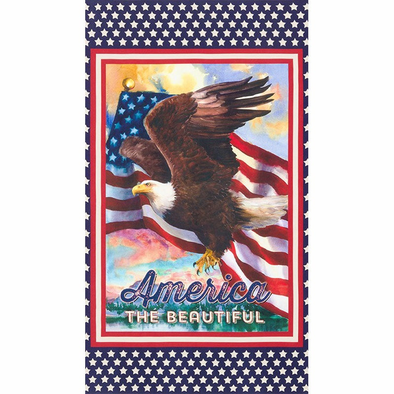 Patriots - America the Beautiful Bald Eagle Americana Digitally Printed Panel