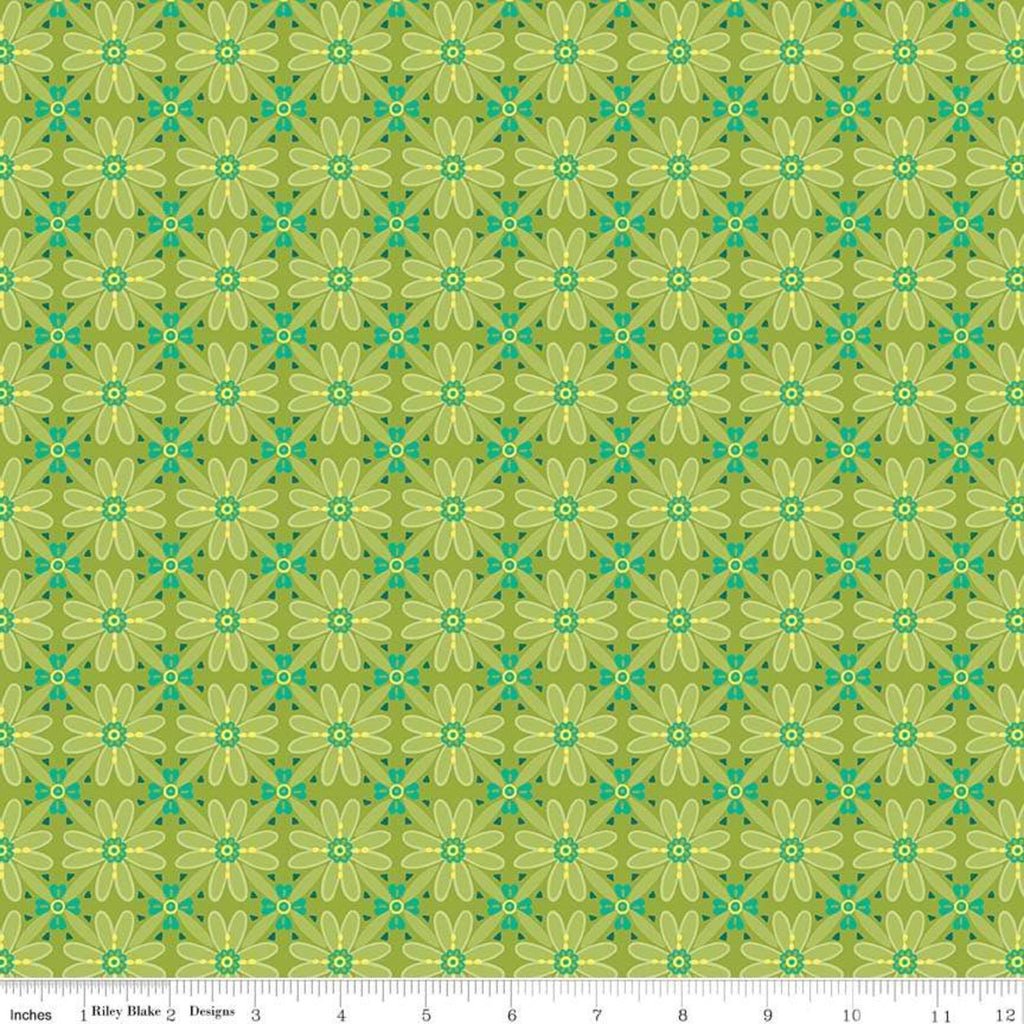 Riley Blake Wildflower Green Mosaic Fabric