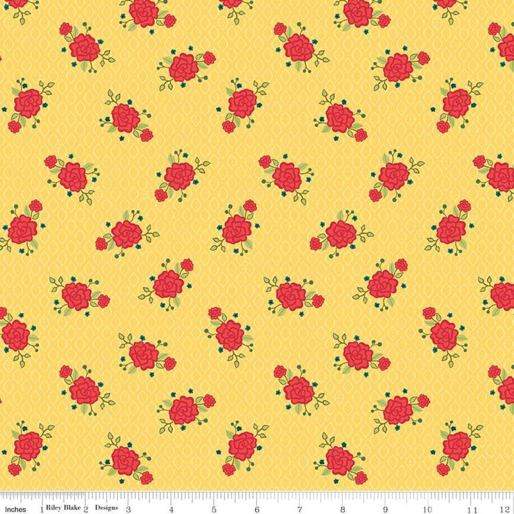 Riley Blake Wildflower Yellow Floral Fabric