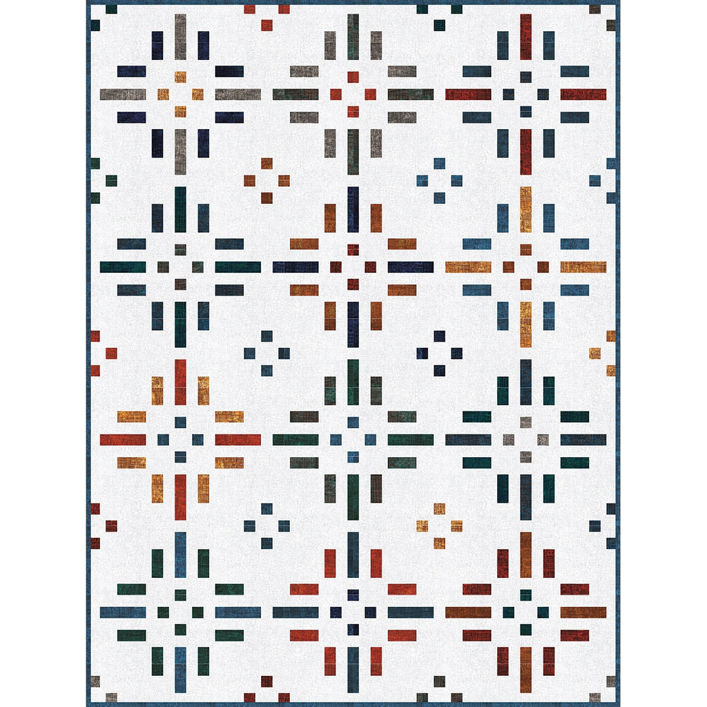 Chalk and Charcoal Dashing Dots Quilt Top Kit