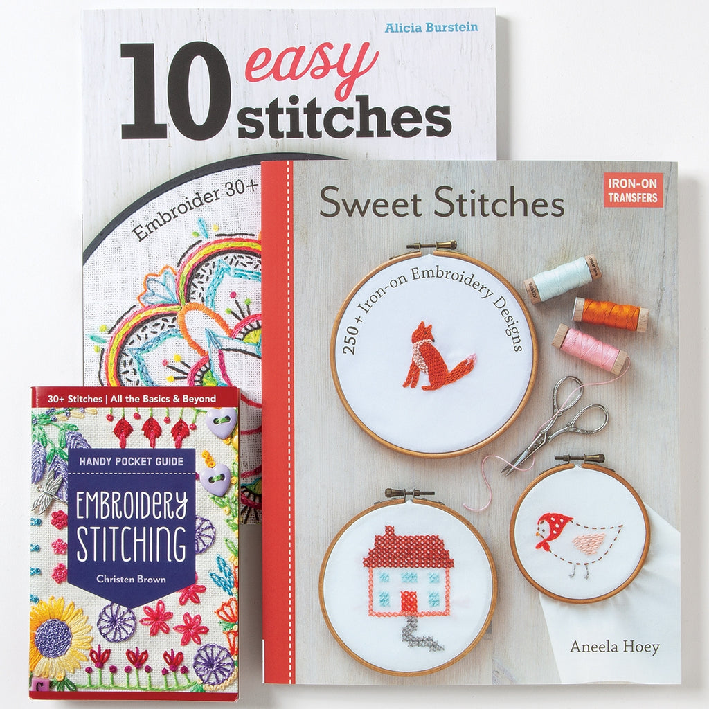 Creative Hand Embroidery Book Set