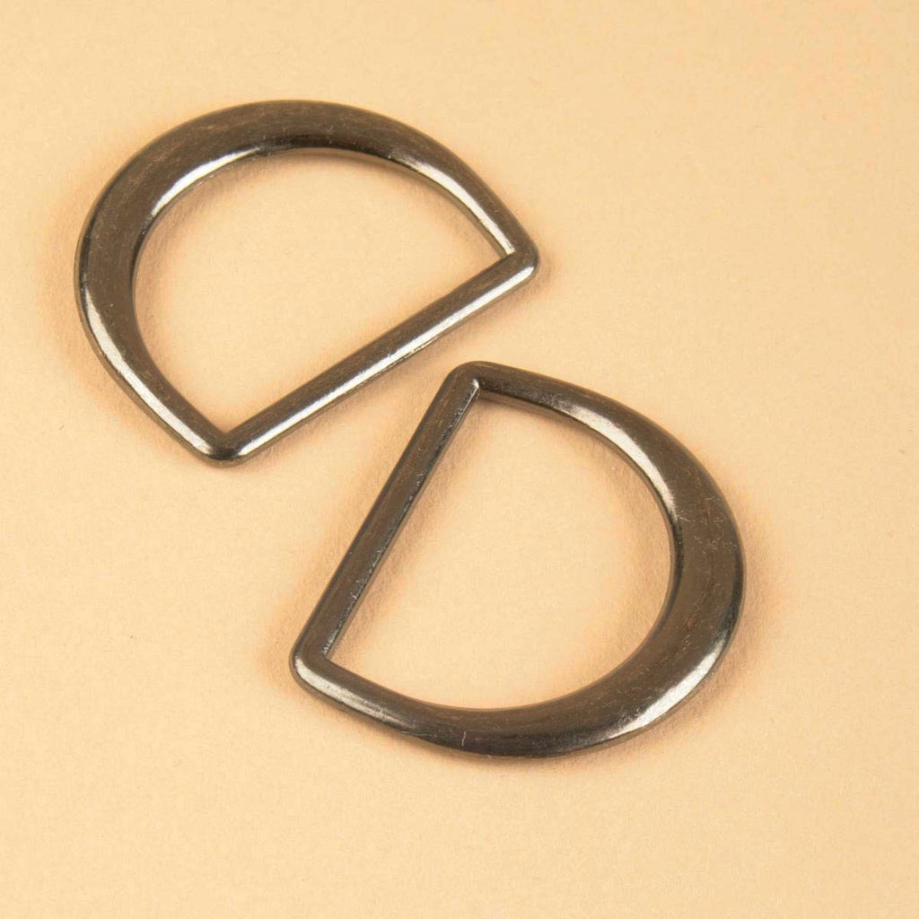 Black Nickel D Ring 1-3/16""