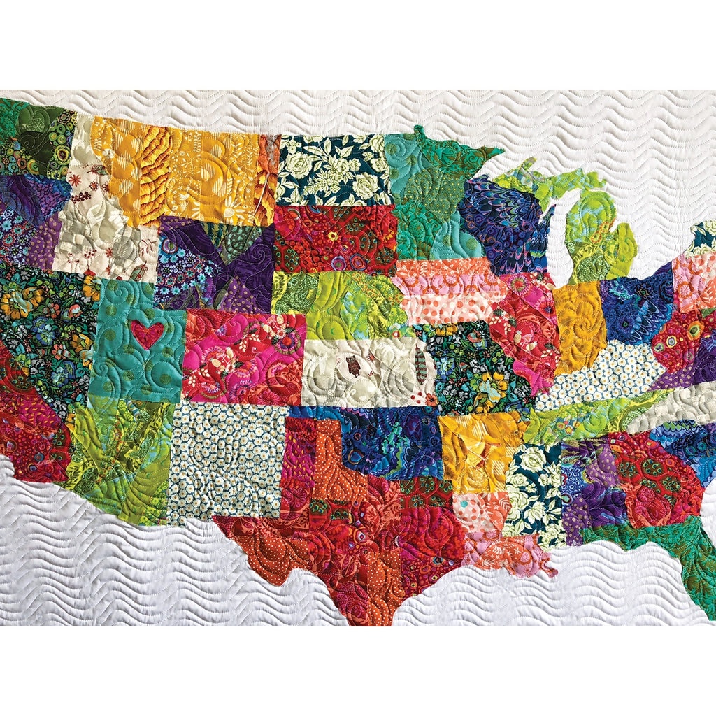 USA Collage Quilt Pattern and Fabric Panel