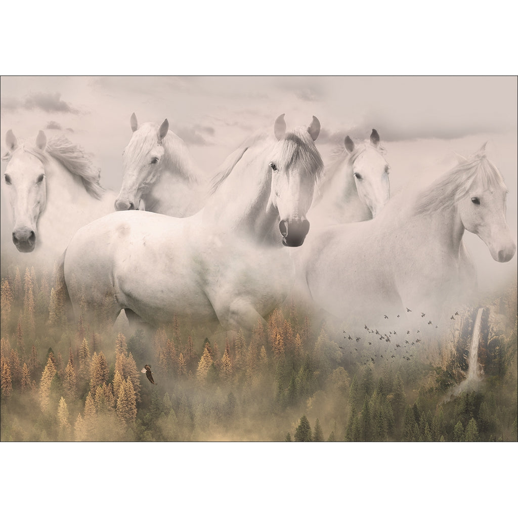 Call Of The Wild Horses Fabric Panel